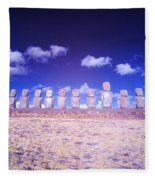 Ahu Tongariki Infrared Fleece Blanket