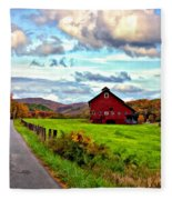 Ah...west Virginia Painted Fleece Blanket