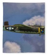 Air Apaches B-25j Fleece Blanket