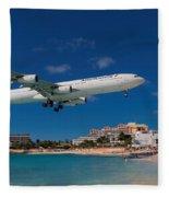 Air France At St. Maarten Fleece Blanket