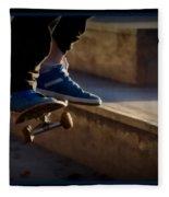 Airborne Skateboarder Fleece Blanket