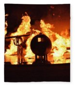 Airforce Fire Deparment Training Fleece Blanket