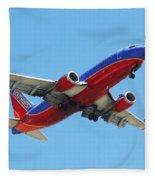 Airliner Landing At Sky Harbor Phoenix Arizona Fleece Blanket