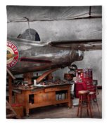 Airplane - The Repair Hanger  Fleece Blanket