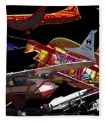 Airplanes Collage  Fleece Blanket