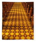 Church Aisle Patterned Floor Fleece Blanket