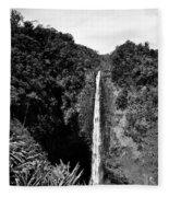 Akaka Falls - Bw Fleece Blanket