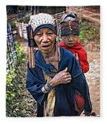 Akha Tribe II Fleece Blanket