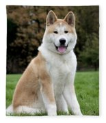 Akita Inu Dog Fleece Blanket