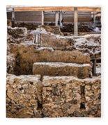 Akrotiri Archaeological Site In Santorini Fleece Blanket