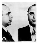 Al Capone Mug Shot Fleece Blanket