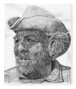 Cowboy Al Holman  Fleece Blanket