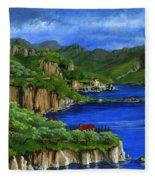 Al Mafi Coast Italy Fleece Blanket