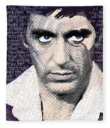 Al Pacino Again Fleece Blanket