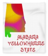 Alabama State Map Collection 2 Fleece Blanket