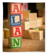 Alan - Alphabet Blocks Fleece Blanket