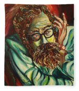 Alan Ginsberg Poet Philosopher Fleece Blanket