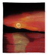 Alaska Sunset Bay Fleece Blanket