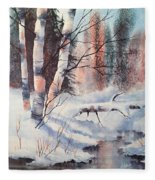 Alaska Birch II Fleece Blanket