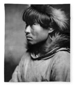 Alaska Eskimo Man, C1906 Fleece Blanket
