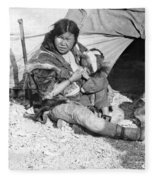 Alaska Eskimos, C1907 Fleece Blanket