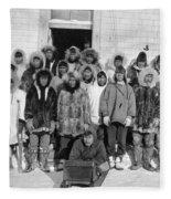 Alaska Eskimos, C1916 Fleece Blanket