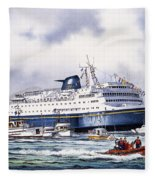 Alaska Ferry Fleece Blanket