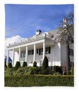 Alaska Governors Mansion Fleece Blanket