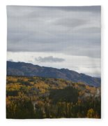 Alaska Highway At Lewes River Bridge  Fleece Blanket