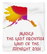 Alaska State Map Collection 2 Fleece Blanket