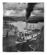 Alaska Steamboat, 1920 Fleece Blanket