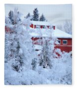 Alaskaland Train Station I Fleece Blanket