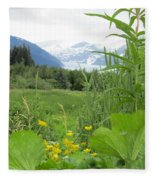 Alaskan Glacier Beauty Fleece Blanket