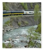 Alaskan Railroad Fleece Blanket