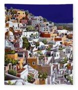 alba a Santorini Fleece Blanket