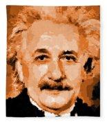 Albert Einstein 01 Fleece Blanket