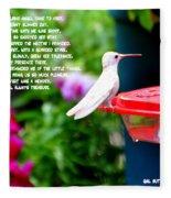 Albino Angel Fleece Blanket