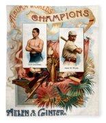 Album Of Worlds Champions Fleece Blanket