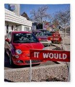 Albuquerque's Route 66 Diner Fleece Blanket