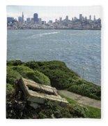 Alcatraz And San Francisco Fleece Blanket