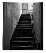 Alcatraz Hospital Stairs Fleece Blanket