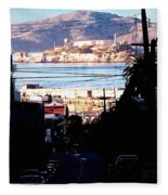 Alcatraz - So Close Yet So Far Fleece Blanket