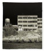Alcatraz The Rock Sepia 2 Fleece Blanket