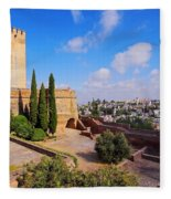 Alcazaba In Granada Fleece Blanket