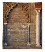Alcazar Columns In Spain Fleece Blanket