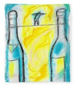Alcoholism Fleece Blanket