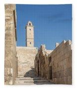Aleppo Citadel In Syria Fleece Blanket
