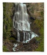 Alexander Falls - Whistler Bc Fleece Blanket
