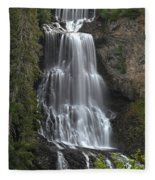 Alexander Falls - Whistler British Columbia Fleece Blanket