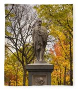 Alexander Hamilton Statue Fleece Blanket